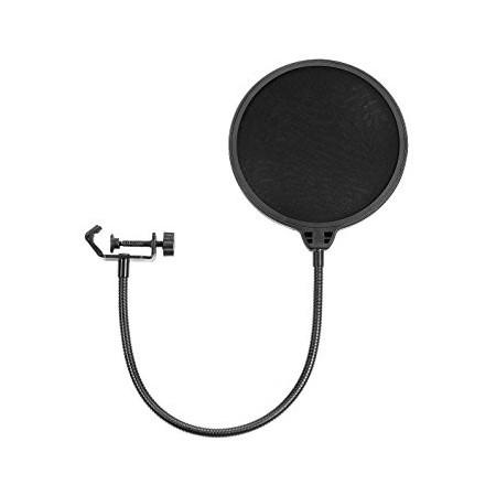 TARTARUGA PS1 Filtro anti pop para microfonos con soporte metálico tipo ganzo