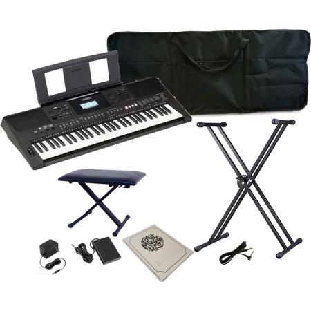 Kit de teclado YAMAHA PSR-E453 + Atril silla pedal sustain ejercitador y mas