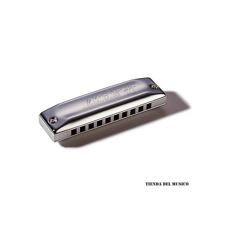 HOHNER MEISTERKLASSE Armónica Diatónica en C cuerpo en Aluminio