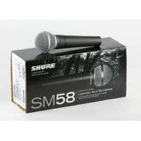 SHURE SM-58 Microfono vocal Unidireccional cardioide profesional con estuche y piaña