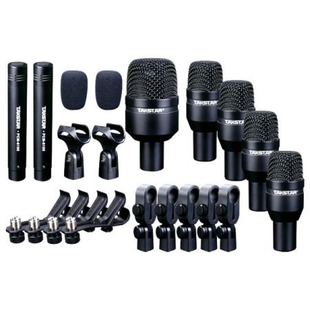 TAKSTAR DMS-D7 Kit de micrófonos para bateria con estuche duro y clamps