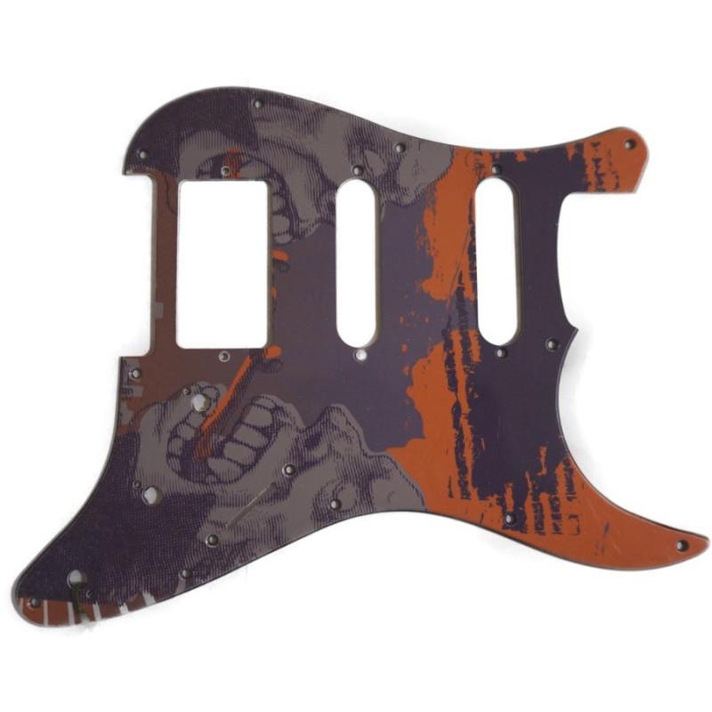 PICKGUARD BK M4 Tablero negro para guitarra Stratocaster HSS