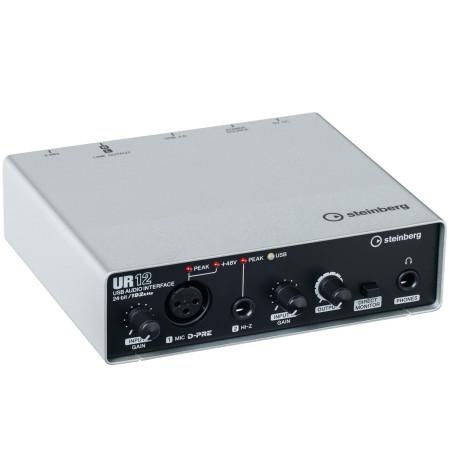 STEINBERG UR12 Interfaz de audio USB 2x2 con 1x D-PRE y soporte 192 kHz