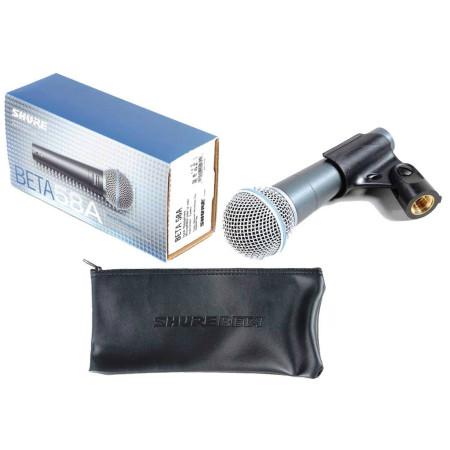 SHURE BETA 58A Microfono vocal Unidireccional cardioide profesional con estuche y piaña